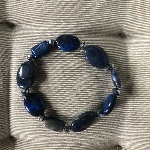 Jewelry - Lapis Bracelet on Elastic. NWOT.
